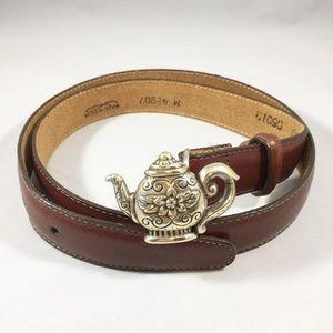 Women's Brighton Teapot Buckle Leather Belt